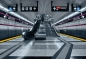 Preview: Fototapete SUBWAY, 368x254cm, futuristische U-Bahn-Station in Toronto, Kanada