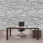 Mobile Preview: Vlies Fototapete 139 - Asian Stone Wall 2 - anreihbar Steinwand Tapete Steinoptik Stein Steine Wand Wall grau