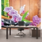 Mobile Preview: Vlies Fototapete 298 - Orchideen Tapete Steine Orchidee Bambus Wellness bunt bunt