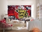 Preview: Fototapete NO MORE GREY WALLS 366x254 strahlendes Graffiti Backstein-Mauer Wand