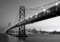 Mobile Preview: Fototapete SAN FRANCISCO SKYLINE 366x254 Golden Gate Bridge in SW tolle Aussicht