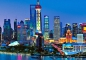 Mobile Preview: Fototapete SHANGHAI SKYLINE 366x254 abendlicher Blick auf Pudong, China, Asien