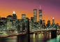 Preview: Fototapete MANHATTAN 366x254 New York City Brooklyn Bridge NYC USA Twin Towers