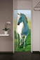 Mobile Preview: Fototapete WHITE HORSE 86x200 weisses Pferd Hengst Schimmel Araber wilder Galopp