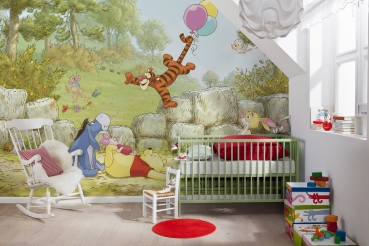 kiss fototapeten zu besten preisen fototapete kindertapete winnie pooh ballooning 368x254. Black Bedroom Furniture Sets. Home Design Ideas