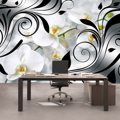 kiss fototapeten zu besten preisen fototapete no 1344 vliestapete blumen tapete. Black Bedroom Furniture Sets. Home Design Ideas