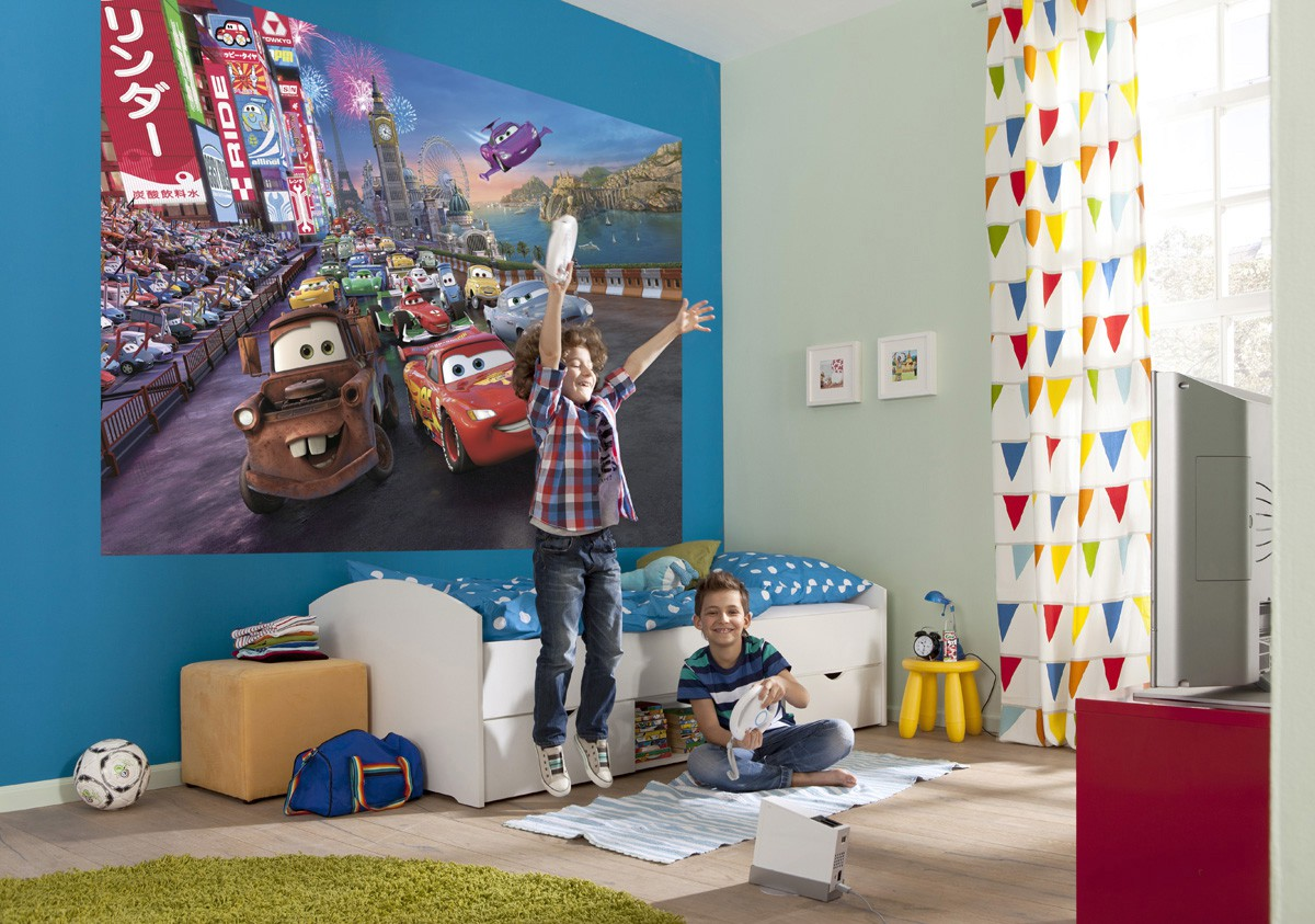 Just KiSS! - Fototapete Kindertapete CARS RACE 254x184 Disney ...