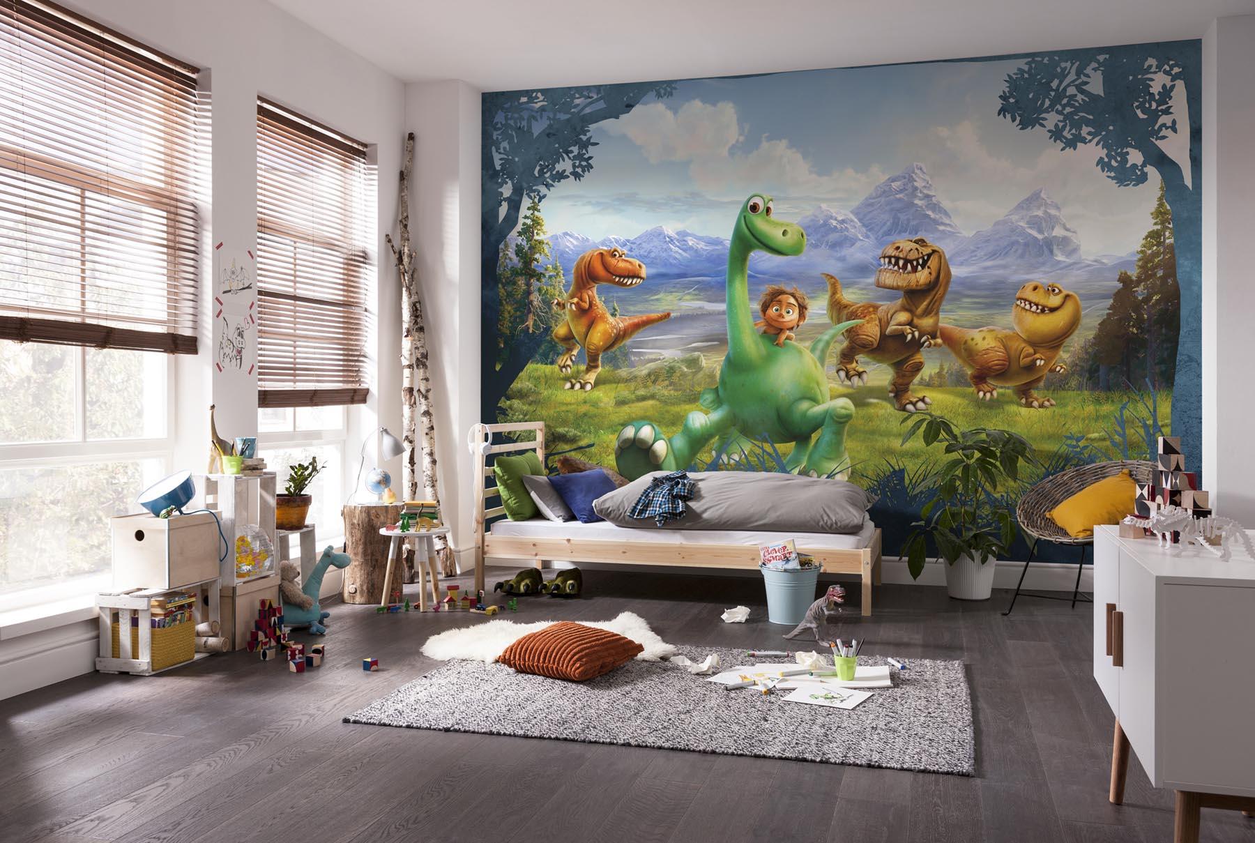 kiss fototapeten zu besten preisen fototapete bildtapete dinosaurier 368 x 254 cm disney. Black Bedroom Furniture Sets. Home Design Ideas