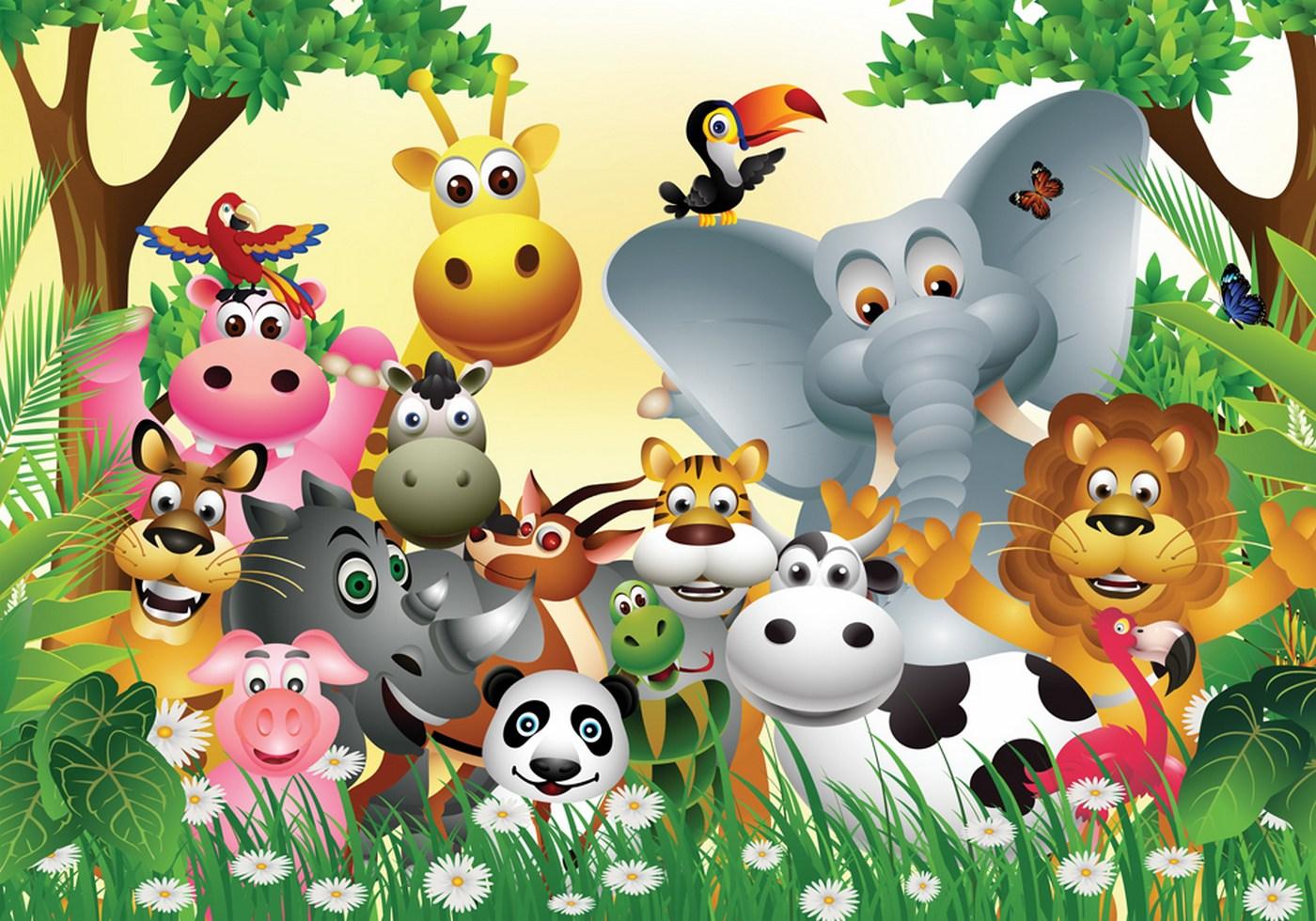 Fototapete Für Kinderzimmer | Kiss Fototapeten Zu Besten Preisen Fototapete Jungle Animals