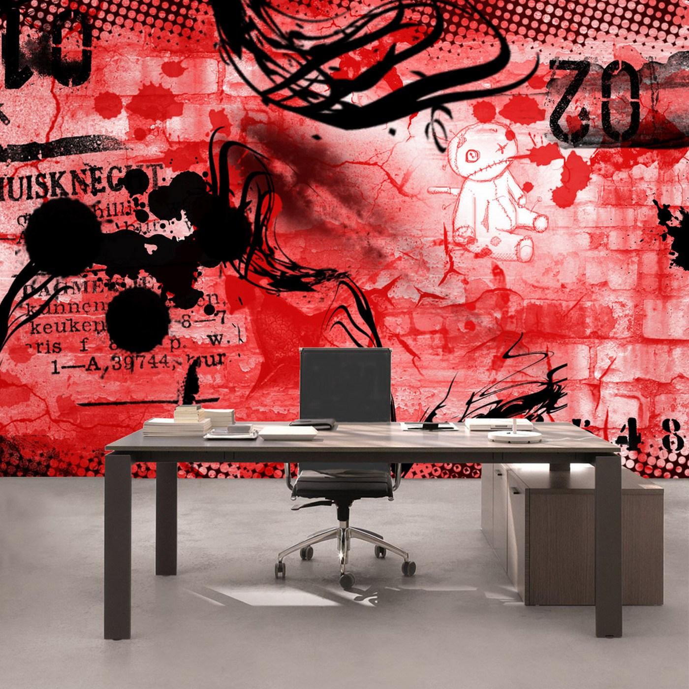 Kiss Fototapeten Zu Besten Preisen Fototapete Red Graffiti Wall