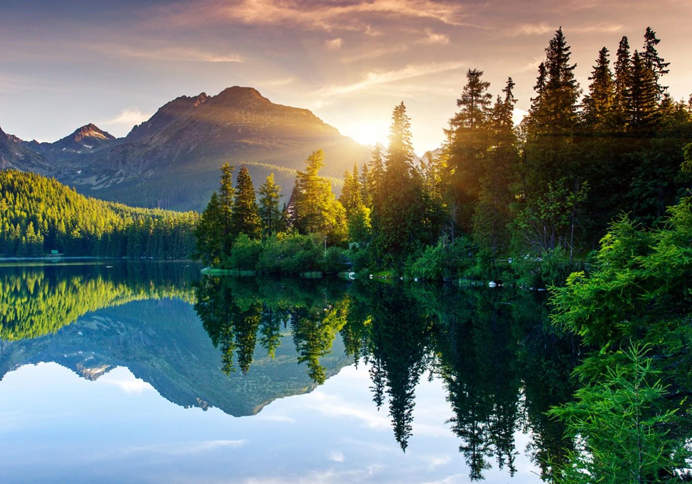 Landschaft Berge See