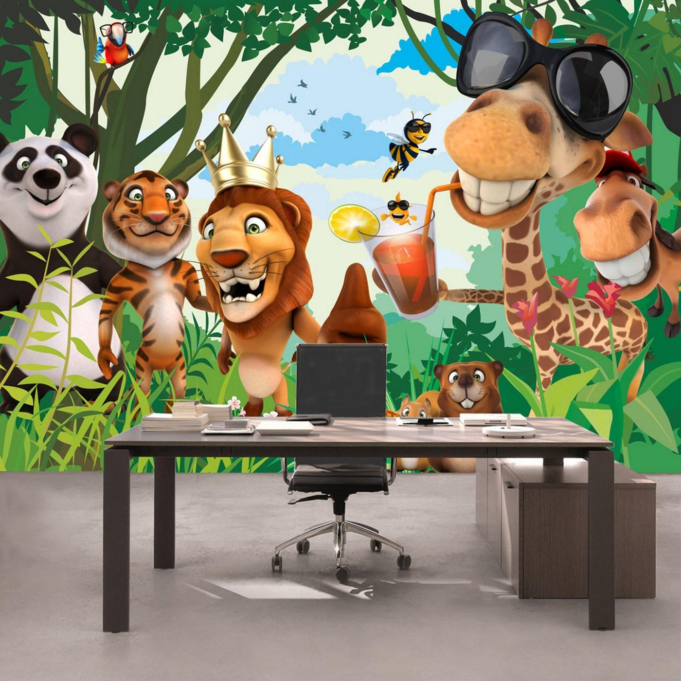 Tapete kinderzimmer tiere  KiSS!, Fototapeten zu besten Preisen. - Fototapete Jungle Animals ...