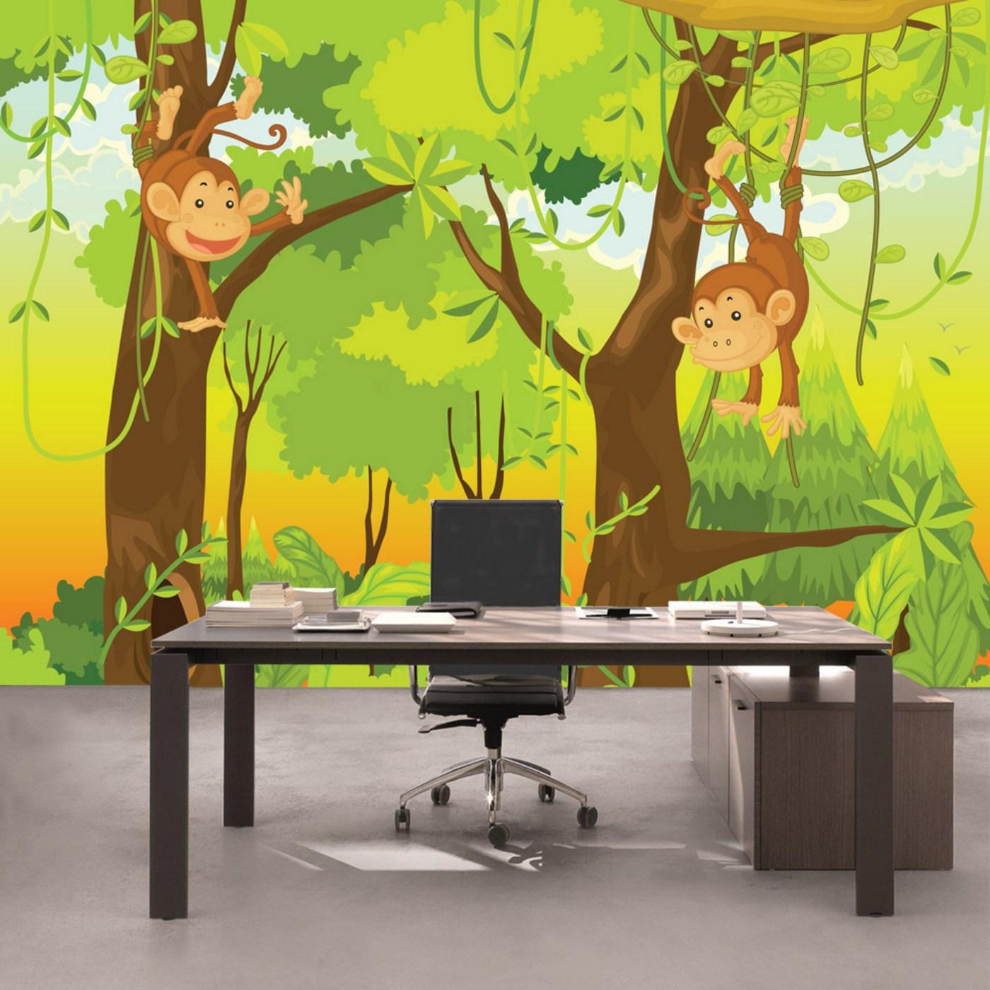 Fototapete kinderzimmer dschungel  KiSS!, Fototapeten zu besten Preisen. - Fototapete Jungle Animals ...