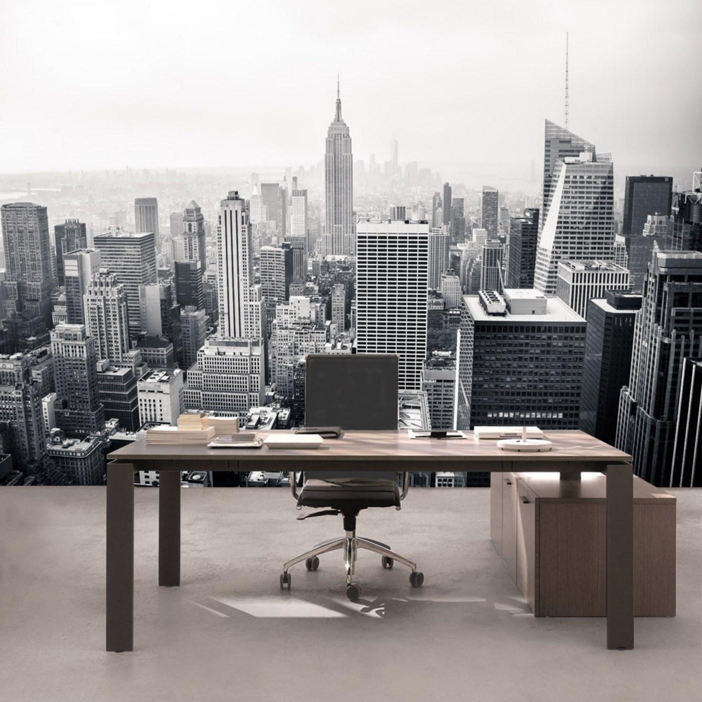 New York City Skyline Manhattan Foto Wandtapete Wandgemälde Schwarz /& Weiß