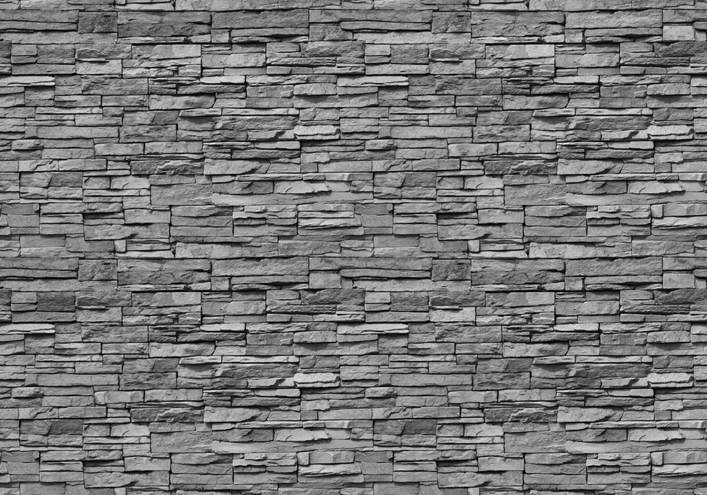 Vlies Fototapete 138 - Asian Stone Wall 2 - anreihbar Steinwand Tapete  Steinoptik Stein Steine Wand Wall anthrazit