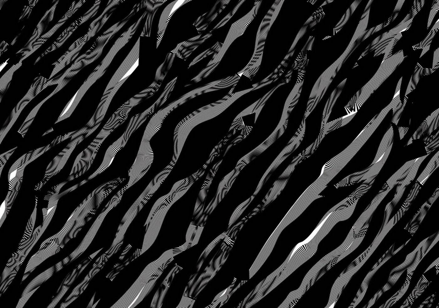 Vlies Fototapete 361   Illustrationen Tapete Abstrakt Wellen Schwarz Weiß  Muster Grau