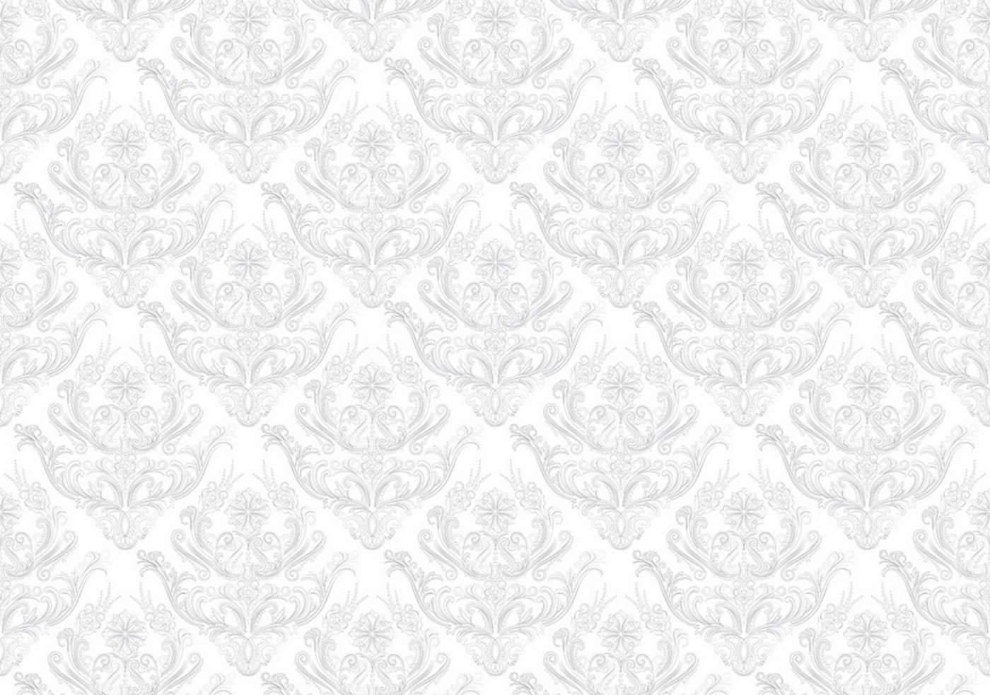 Vlies Fototapete 373   Ornamente Tapete Ornamente Muster Weiß Grau Weiß