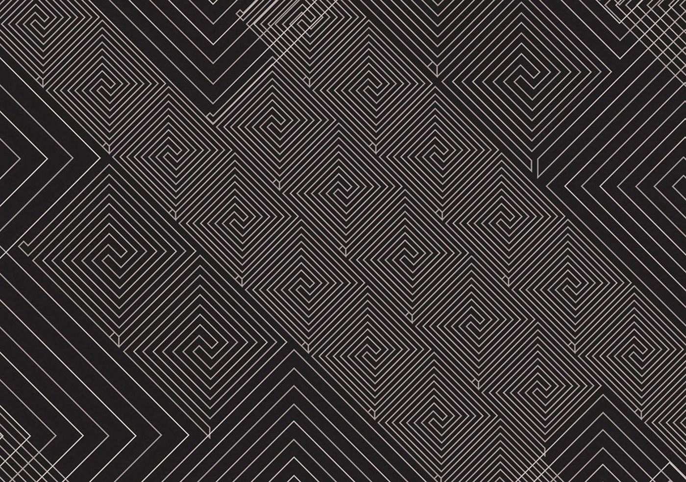 vlies fototapete 400 illustrationen tapete abstrakt ornamente muster schwarz wei schwarz wei - Tapete Schwarz Weis Muster
