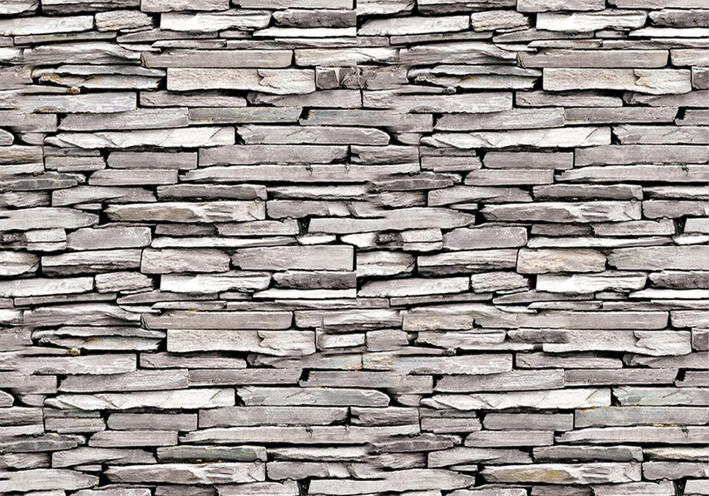 Vlies Fototapete 424   Steinwand Tapete Steinwand Steine Muster Mauer Grau  Grau