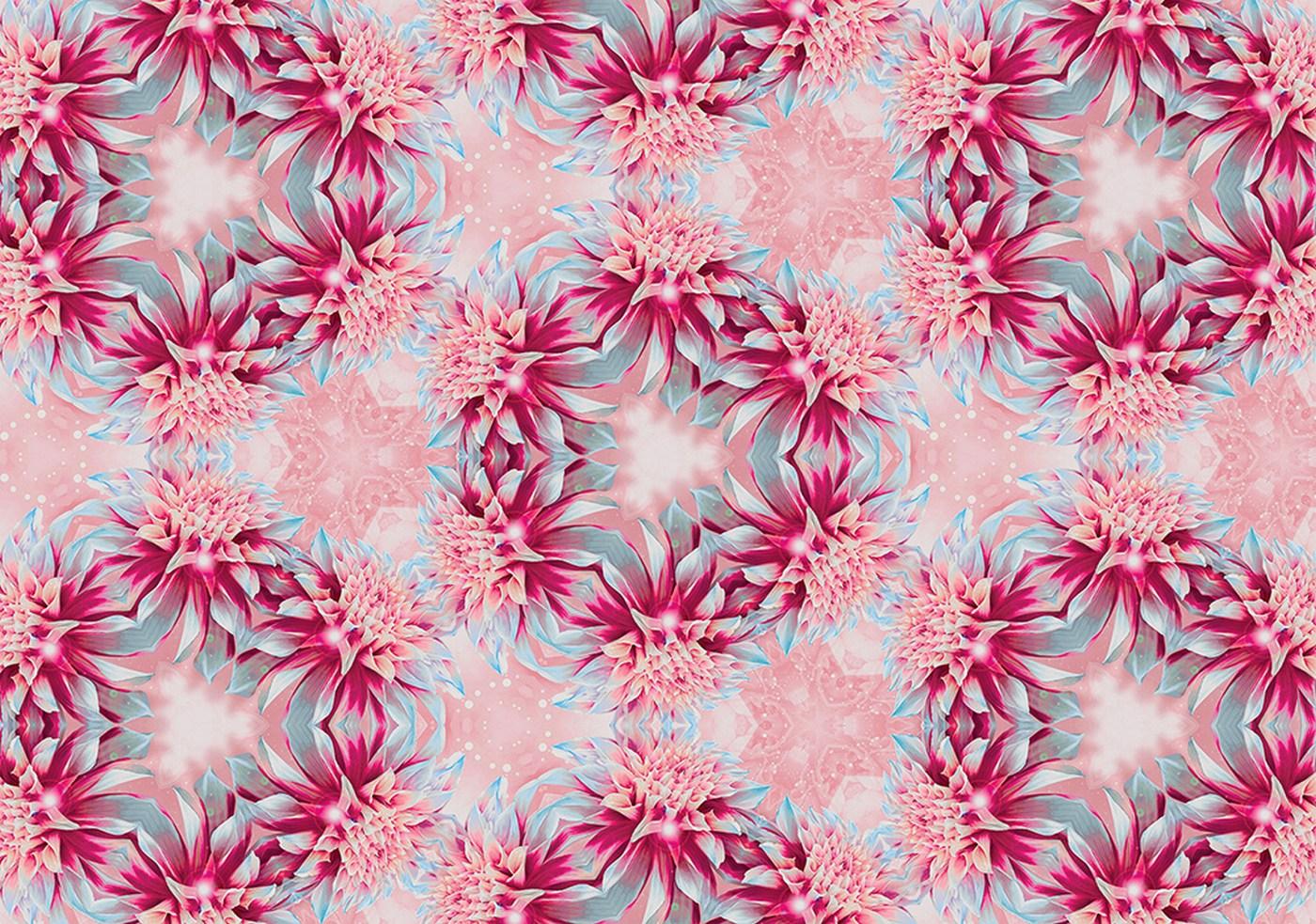 vlies fototapete 1290 illustrationen tapete muster blume illustration pink - Vliestapeten Muster