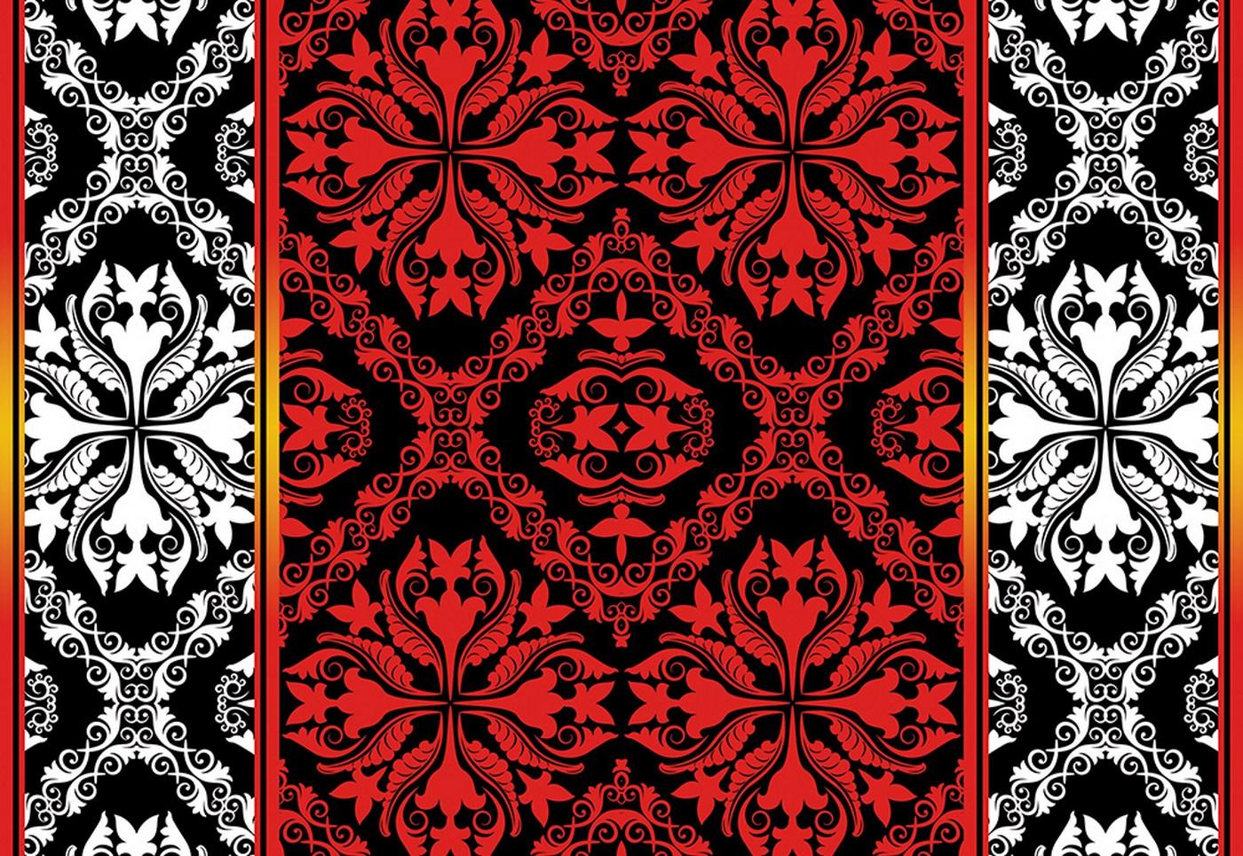 vlies fototapete 1851 ornamente tapete vektorgrafik muster rot - Tapete Rot Muster