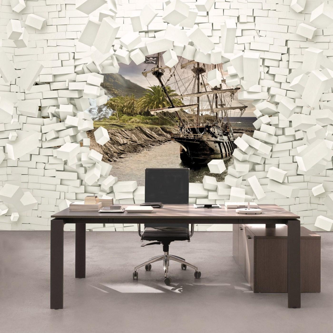 Tapete steinoptik 3d great tapete steinoptik wohnzimmer for Tapete stein
