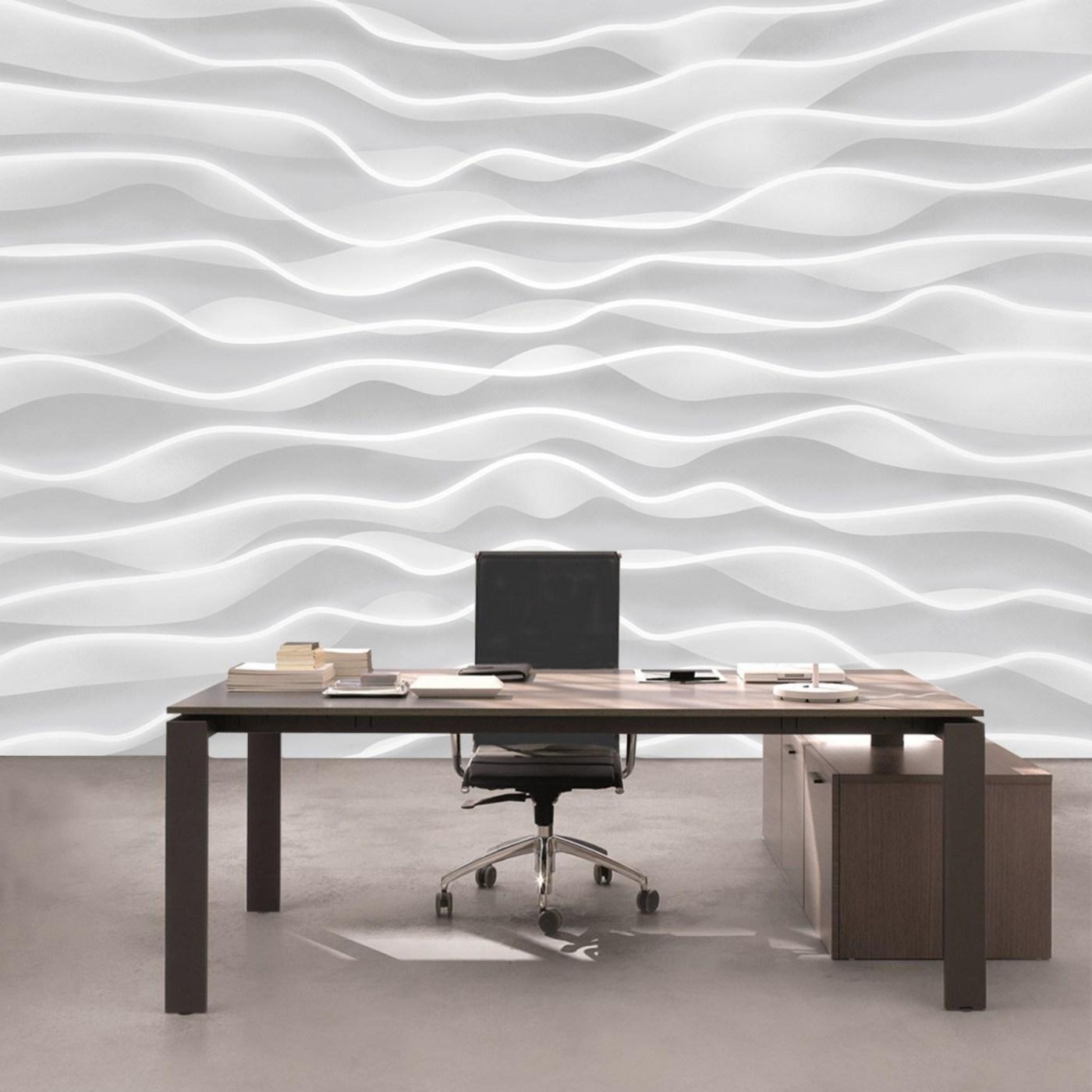 8810a0a1998c Vlies Fototapete 2869 - Kunst Tapete Design Wellen Abstrakt Muster weiß