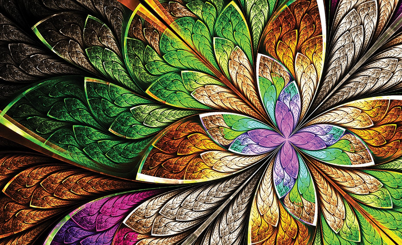 Fantastisch Vlies Fototapete 3053   Kunst Tapete Design Blumen Muster Farben Bunt