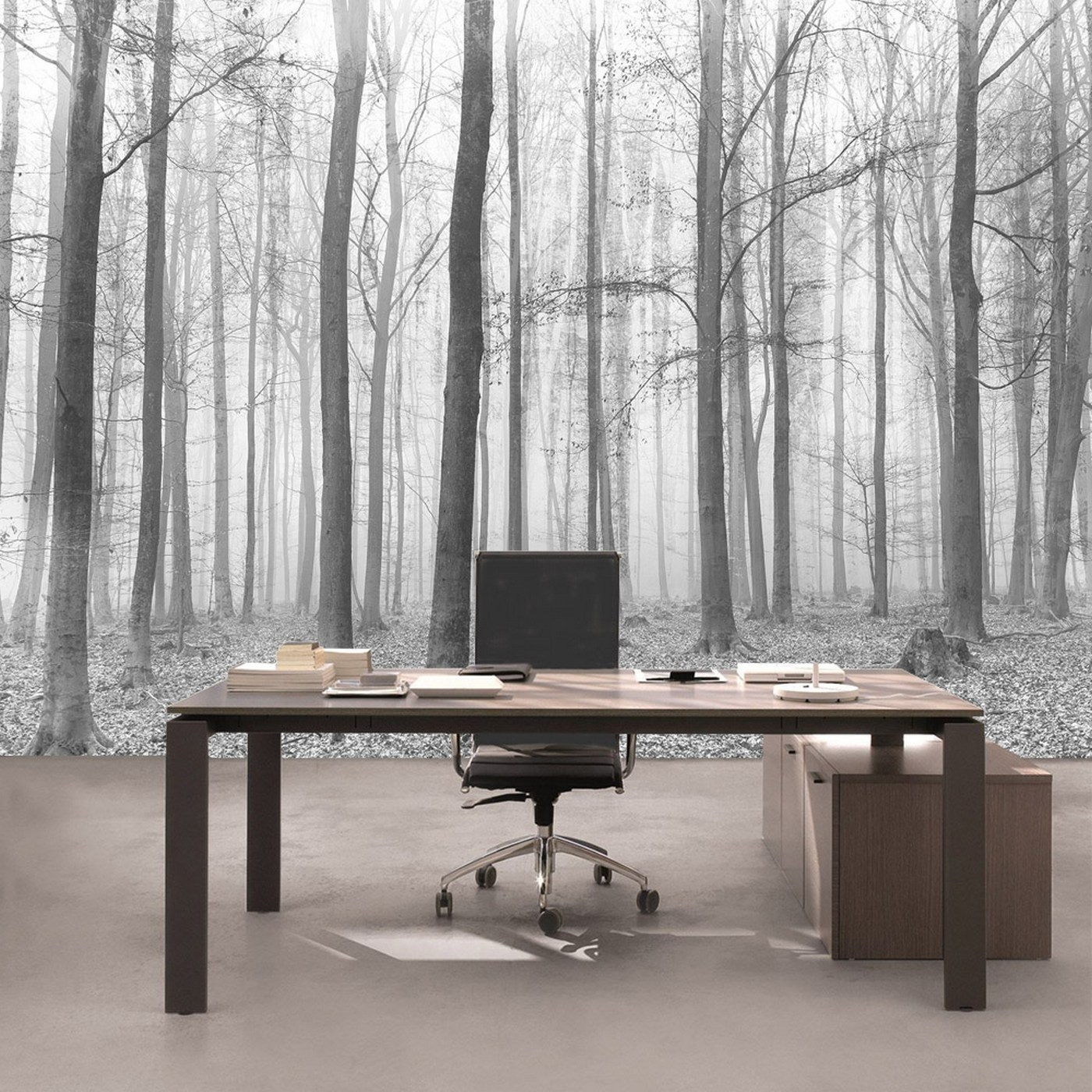 kiss fototapeten zu besten preisen vlies fototapete no 4433 natur tapete wald baum nebel. Black Bedroom Furniture Sets. Home Design Ideas