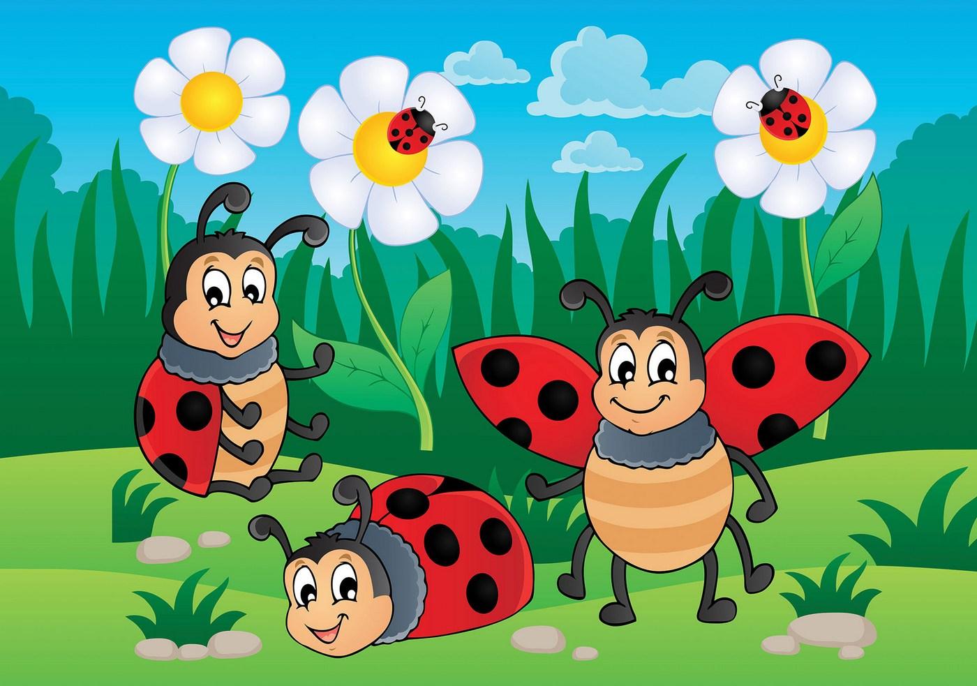Tapete Fototapete Vlies Cartoon Bugs Nr 1