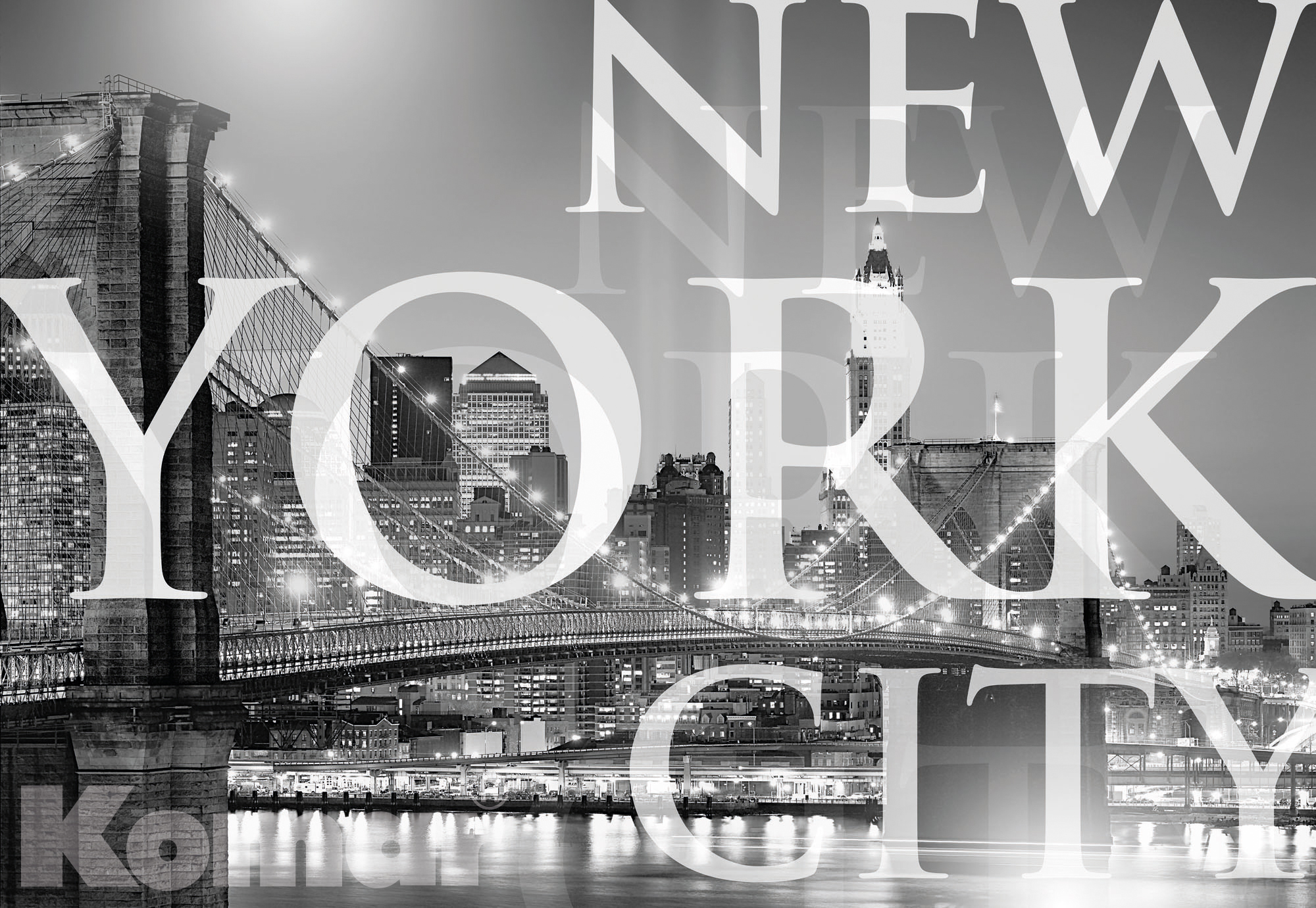 kiss fototapeten zu besten preisen fototapete gallery new york city 184x127 usa brooklyn. Black Bedroom Furniture Sets. Home Design Ideas